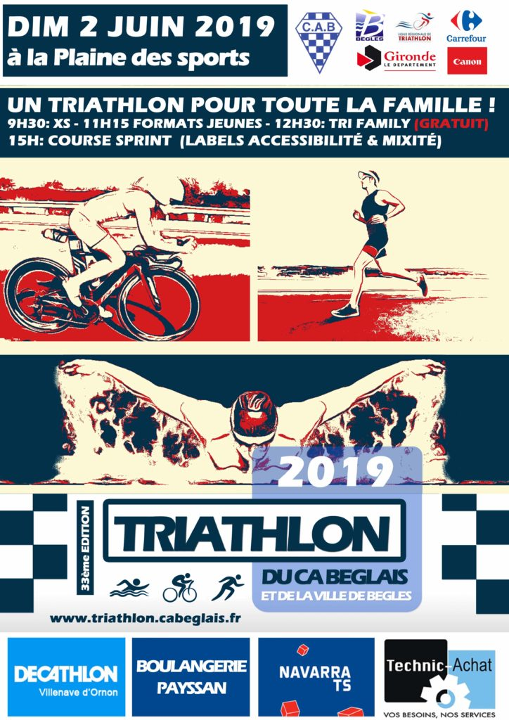 Triathlon de begles 2 juin 2019